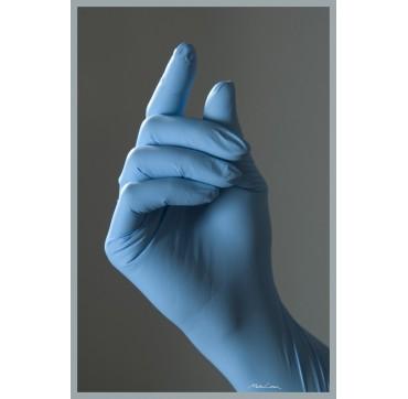 Gants nitrile bleu non poudrés parmadis premium