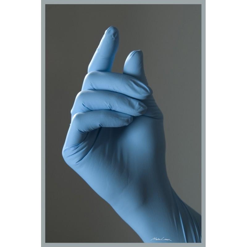gants jetables en nitrile bleu gants sans latex usage unique. Black Bedroom Furniture Sets. Home Design Ideas