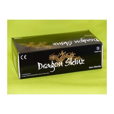 Gants latex noir non poudrés dragon skinz