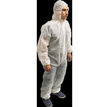 Combinaison polypropylene blanche non tisse