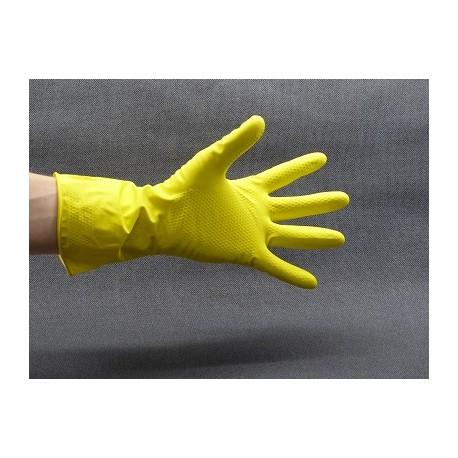 Gants de ménage jaunes sachet de 12 paires