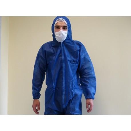 Combinaison polypropylene bleue non tisse