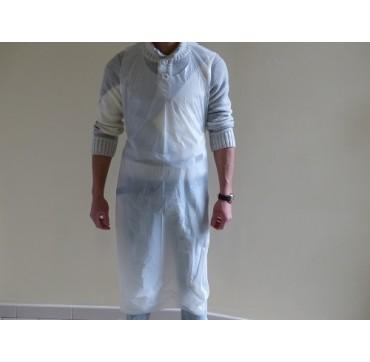 Tablier jetable blanc 20µ  - 3106