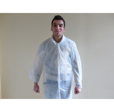 Blouse polyethylene blanc par 10