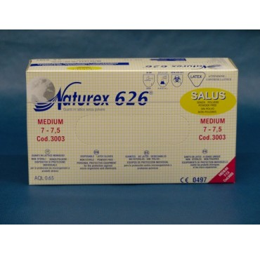 GANTS NATUREX 626 LATEX  SALUS NON POUDRES