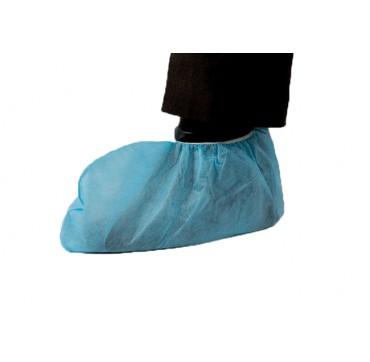 Surchaussure en polypropylene bleu par 100