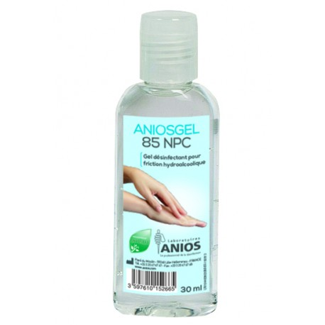 Gel hydroalcoolique aniosgel 85 npc 30ml