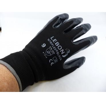 Gant nitriflex black sachet de 12 paires