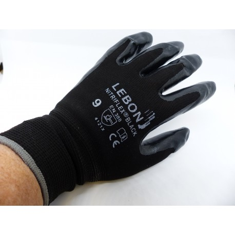 Gants nitriflex black lebon protection
