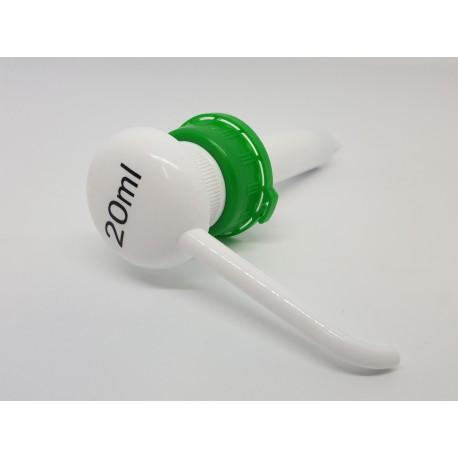 Pompe doseuse 20ml pour flacon d'induspray wr52 en litre
