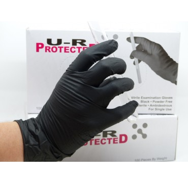 Gant Nitrile Noir Sans Poudre UR-Protected