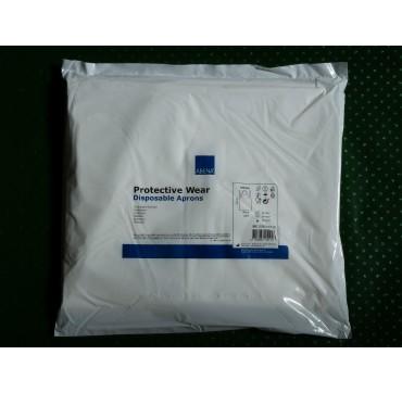 Tablier Blanc 30µ 130 x 80 cm blanc par sachet de 100