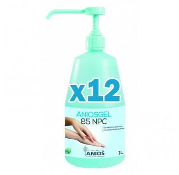 Gel hydroalcoolique aniosgel 85 npc 1l – pack de 12 flacons