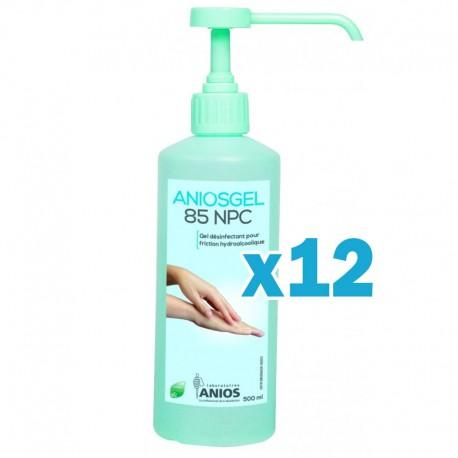Gel hydroalcoolique aniosgel 85 npc 500ml – pack de 12 flacons