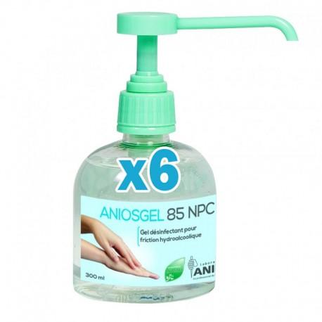 Gel hydroalcoolique aniosgel 85 npc 300ml – pack de 6 flacons