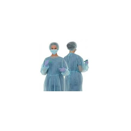 Blouse polyethylene bleue par 10