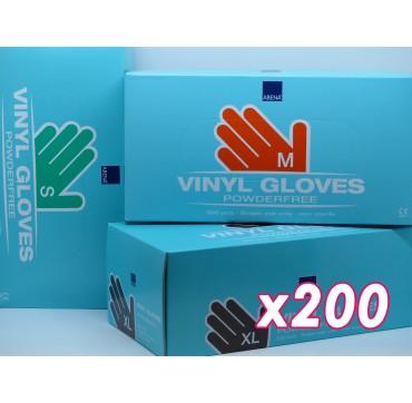 Gants vinyle abena np par 200