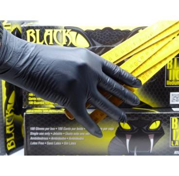 Gants nitrile noir epais black mamba