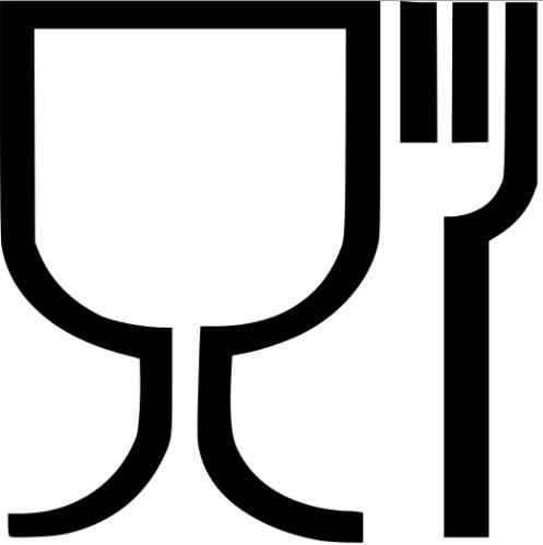 symbole verre/fourchette