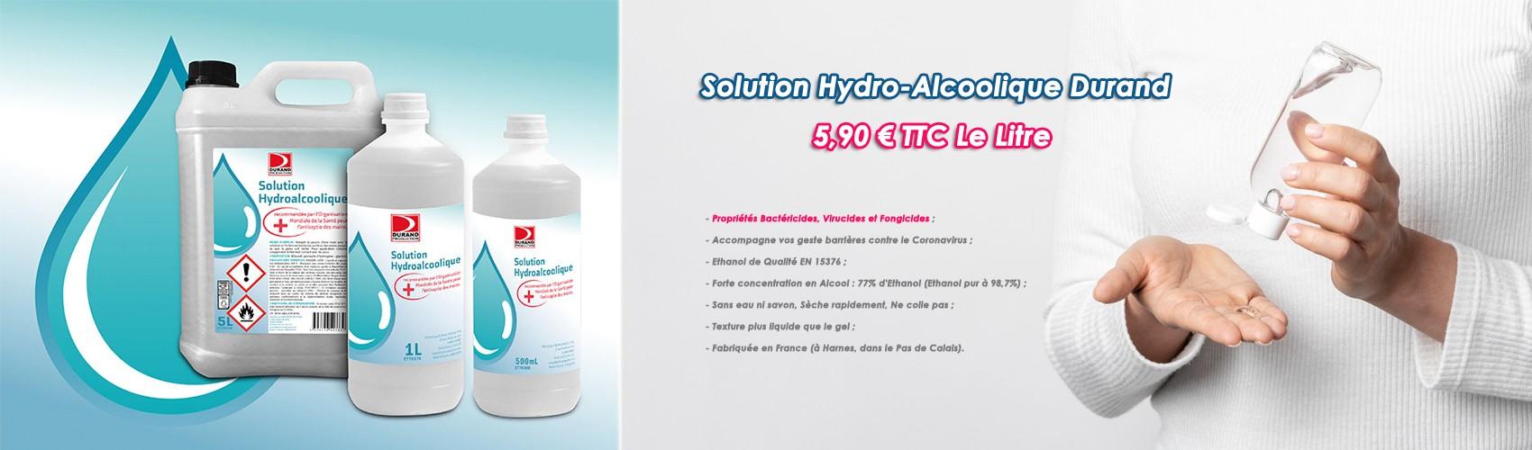 La Solution Hydroalcoolique Durand à 7,90 € TTC au lieu de 13,19 € TTC !