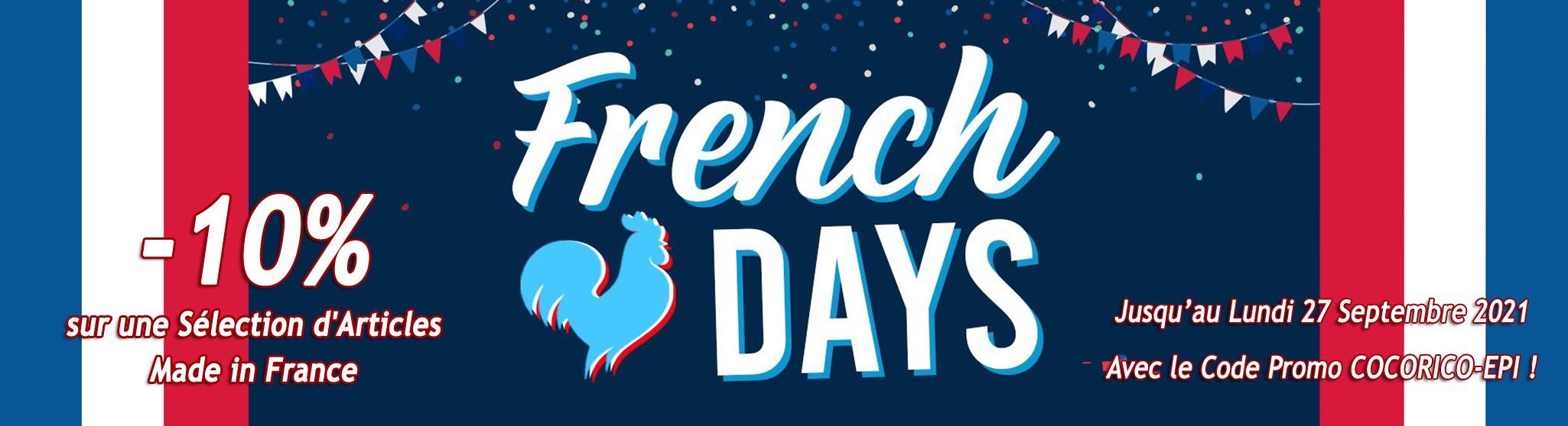 FRENCH DAYS : 10% de Remise sur une Sélection d'Articles Made in France !